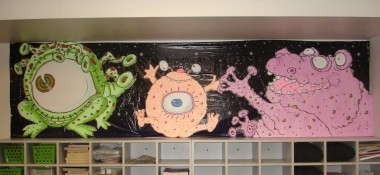 Alien bulletin board ideas