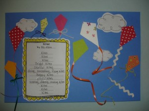 Kite poetry writing activity