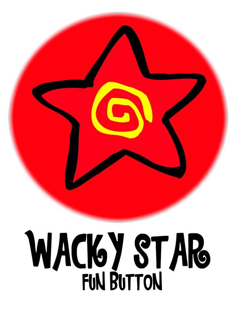"Wacky Star ""Fun Button""- freebie printable"
