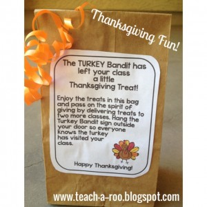 Turkey Bandit Treat Sack Tags