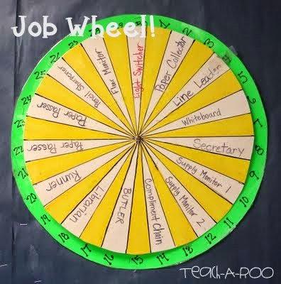 classroom job wheel