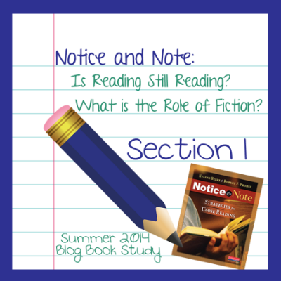 Notice and Note- Book Study Week 1