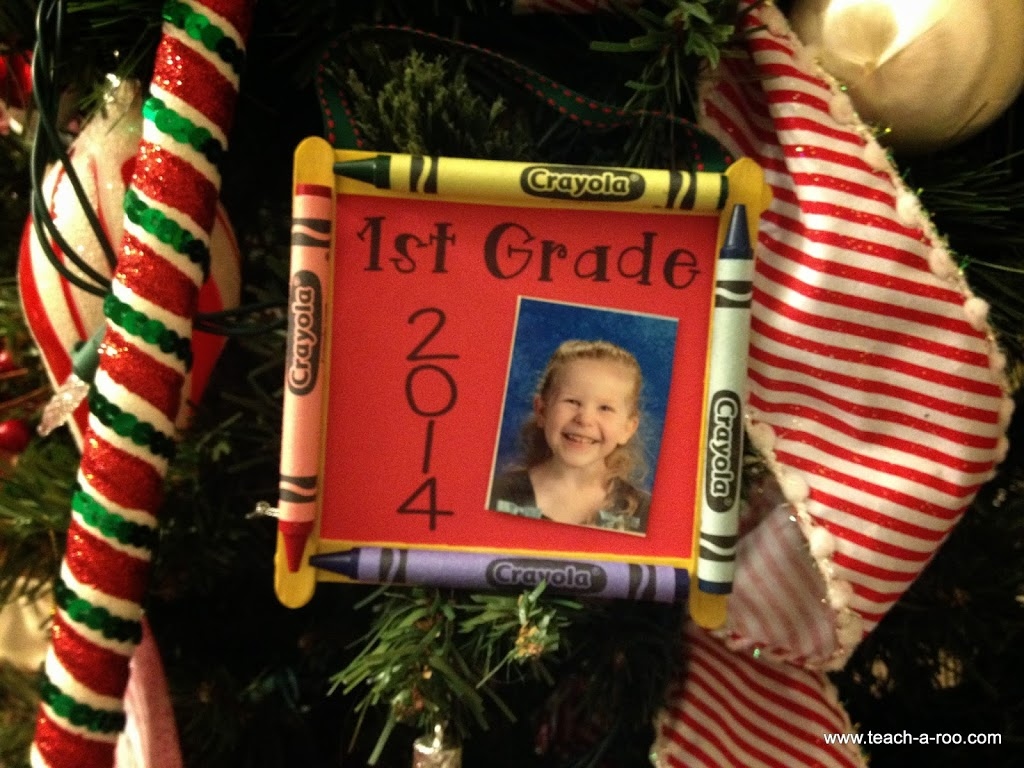 Crayon Photo Frame Ornaments