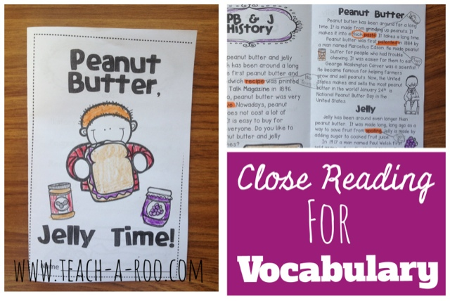 Close Reading for Vocabulary