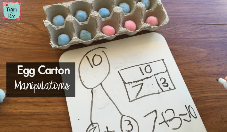 Egg Carton Manipulatives