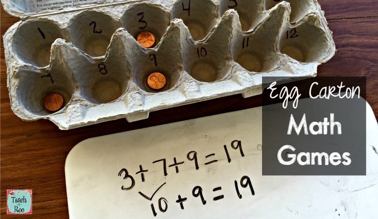 egg carton math games