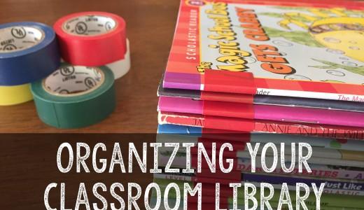 classroom library organizaiton